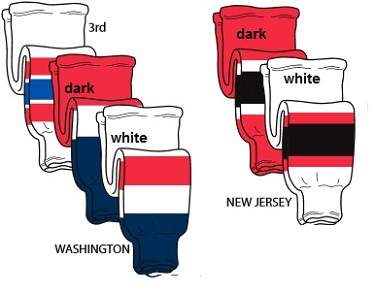 Hockey Socks - New Jersey or Washington by Pearsox Pro Weight