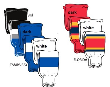 Pearsox Tampa Bay or Florida Hockey Socks