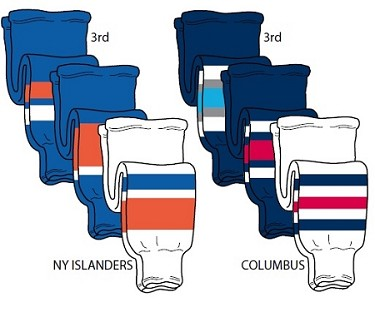 Hockey Socks - New York Islanders or Columbus by Pearsox Pro Weight