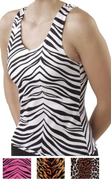 Racerback Top by Pizzazz - Animal Print