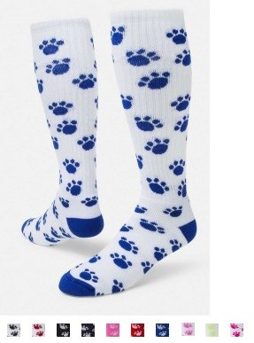 Paw Print Crazy Knee High Socks by Red Lion