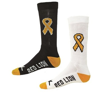 Childhood Cancer Awareness Ribbon Crew Socks by Red Lion - Cure