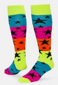 Rainbow Stars Knee High Socks by Red Lion
