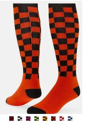 Red Lion Checkerboard Knee High Socks