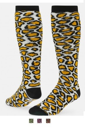 Leopard Print Knee High Socks by Red Lion