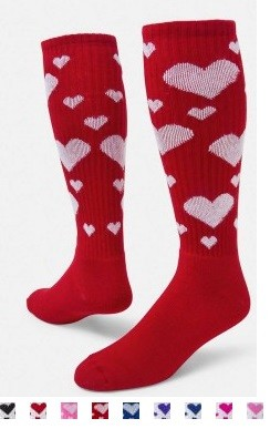 Hearts Knee High socks by Red Lion