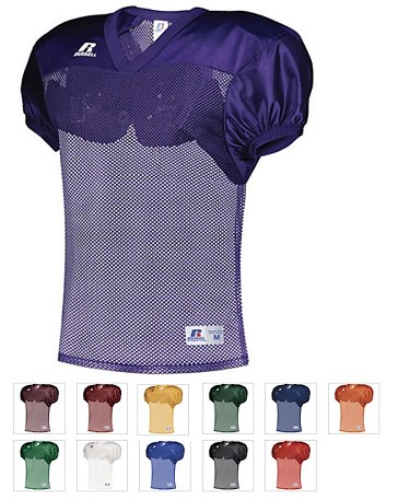 Football Practice Jersey by Russell Athletic - Solid Color