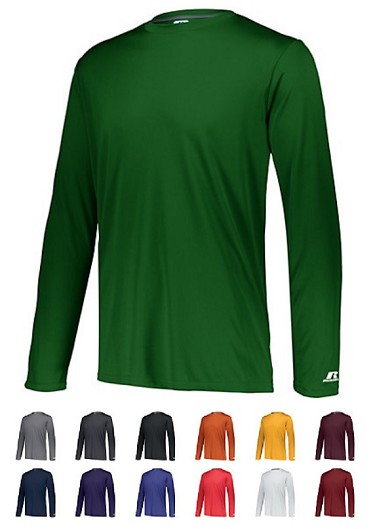 Long Sleeve Shirt by Russell - Dri-Power Core Performance