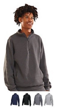 Pullover Long Sleeve by Russell - 1/4 Zip Dri-Power Fleece