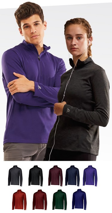 Pullover Long Sleeve by Russell - 1/4 Zip Dri-Power Lightweight