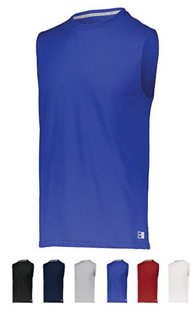 Russell Essential Muscle Tee with Sun Protection