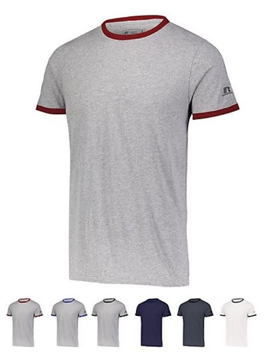 Short Sleeve T-Shirts with Sun Protection by Russell Athletic - Essential Ringer