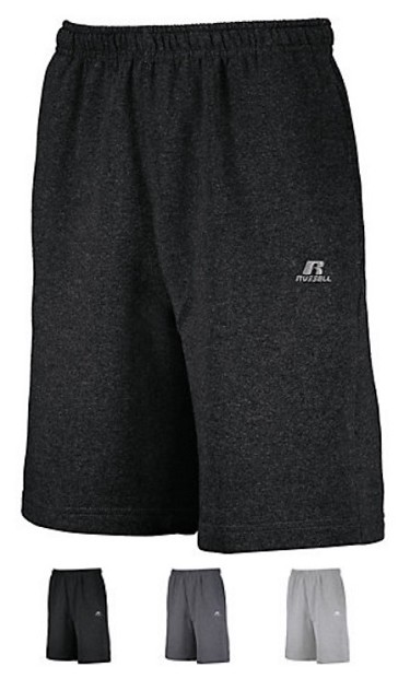 Russell Dri-Power Fleece Training Shorts with Pockets