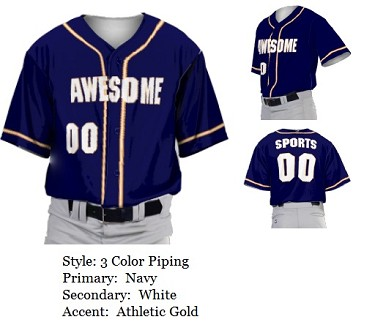 Custom Baseball Jerseys by Prosphere Sublimated (Alternate Sleeves)