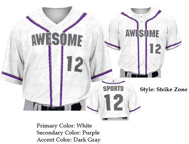 Prosphere Premium Sublimated Baseball Jerseys (Strike Zone) Digi Camo Design