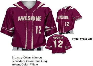 Custom Baseball Jerseys by Prosphere Sublimated (Walk Off)