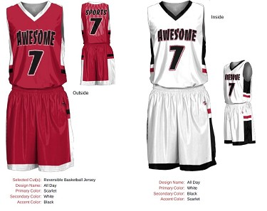 Custom Basketball Uniforms Men/Women (All Day, Reversible)