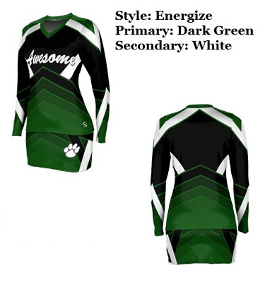 Teamwork Custom Cheerleading Uniforms (Double Down)