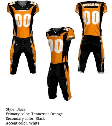 Teamwork Custom Football Uniforms  (Blaze)