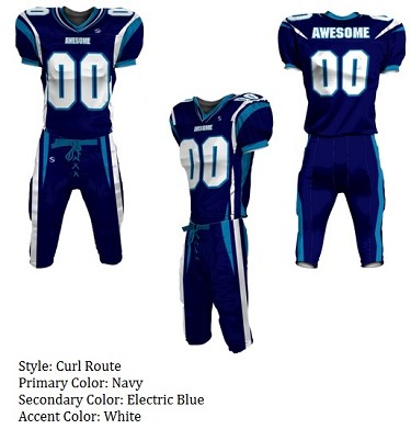 Teamwork Custom Football Uniforms  (Curl Route)