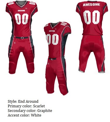Teamwork Custom Football Uniforms  (End Around)