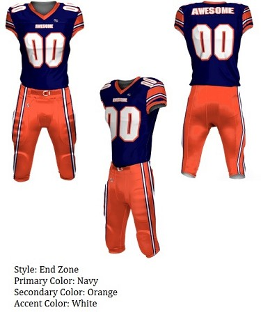 Teamwork Custom Football Uniforms  (End Zone)