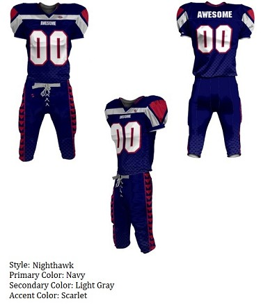 Teamwork Custom Football Uniforms  (Night Hawk)