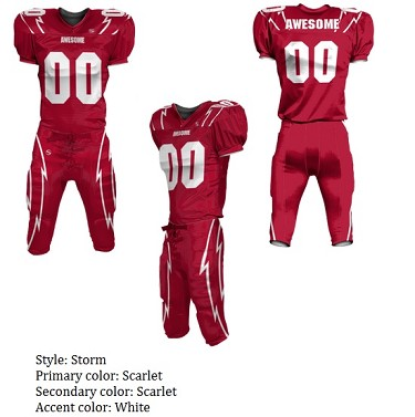 Teamwork Custom Football Uniforms  (Storm)