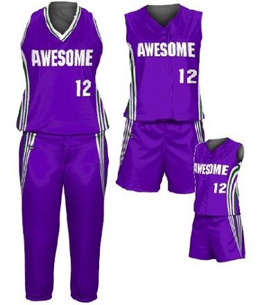 Custom Softball Uniforms by Prosphere Sublimated (Run Down)