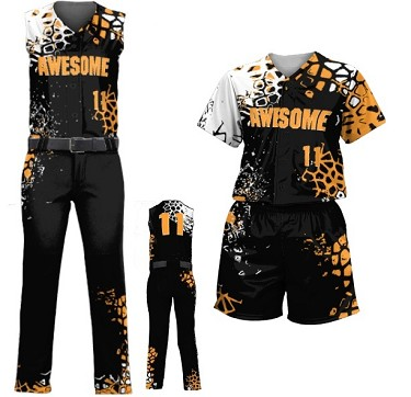 Custom Softball Uniforms by Prosphere Sublimated (WILDCARD)