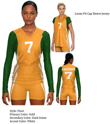 Teamwork Sublaminated Custom Volleyball Uniforms (Flare)