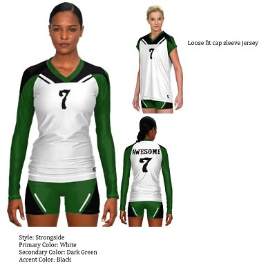 Teamwork Sublaminated Custom Volleyball Uniforms (Strong Side)