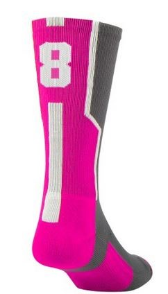 Player ID Pink Crew Sock by Twin City  (Sold Individually)