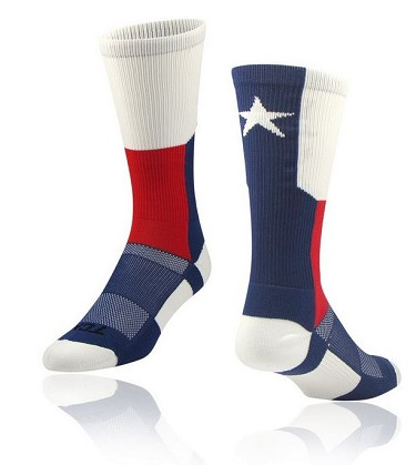 State Flag Crew Socks by Twin City - Texas